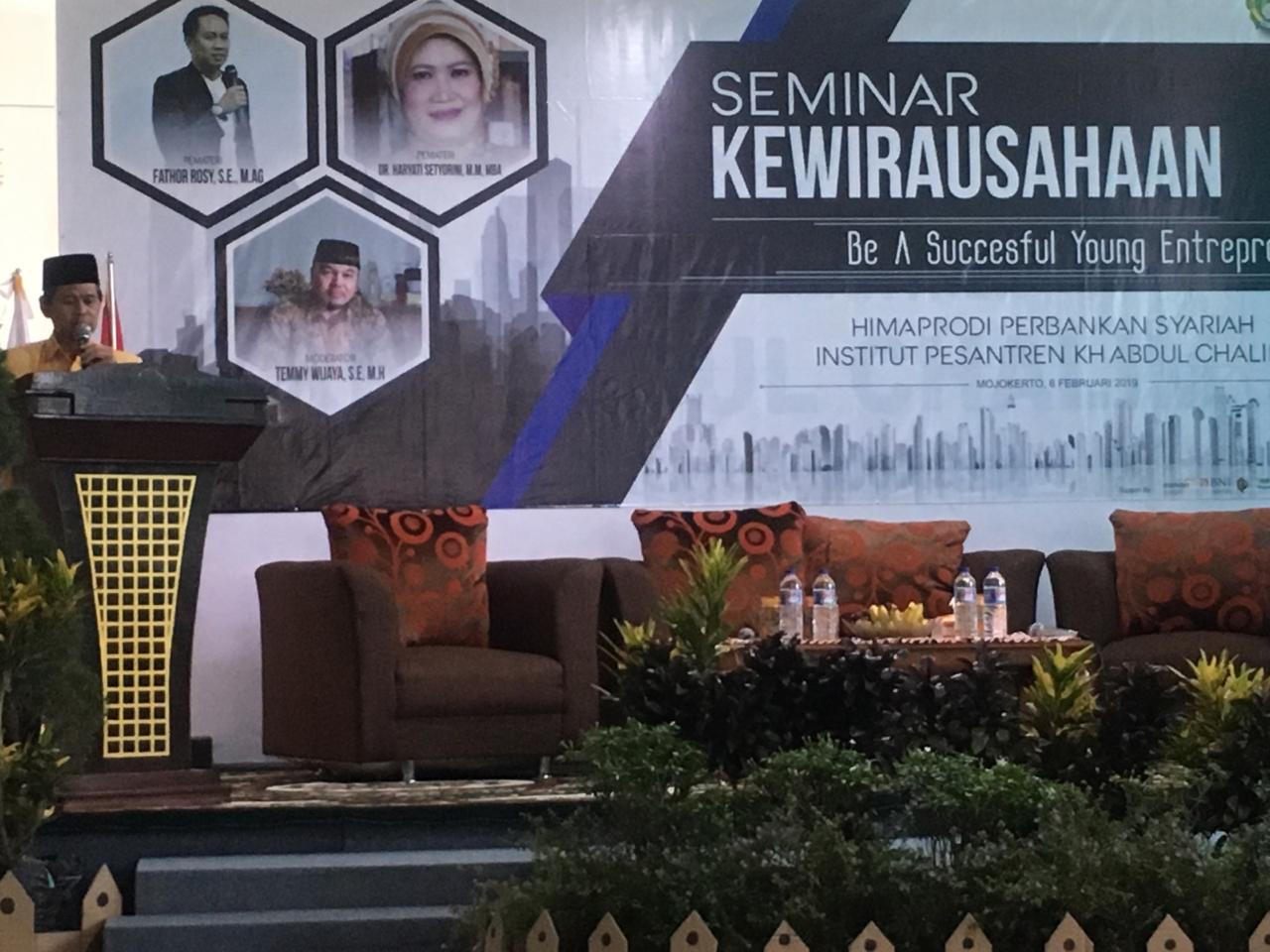 Seminar kewirausahaan Program Studi Perbankan Syariah:  Be A Successful Young Entrepreneur